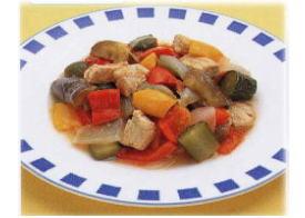 夏野菜と豚肉の炒め煮