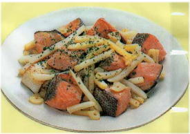 鮭とポテトの炒めもの