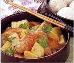 たけのこと鶏手羽の炒め煮