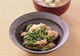 菜の花と豚肉の辛子酢