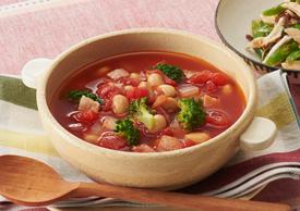 食べる豆トマトスープ