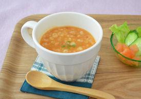 マグカップでトマト雑炊