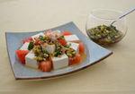 山形県の「だし」かけ豆腐サラダ