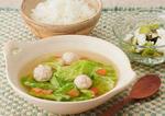 春キャベツとミンチの和スープ