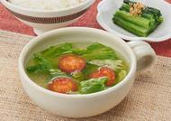 レタスとトマトの簡単スープ