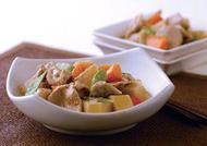 根菜と豚肉のごまみそ煮