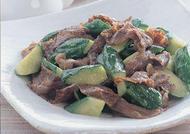 きゅうりと牛肉のさっぱり炒め